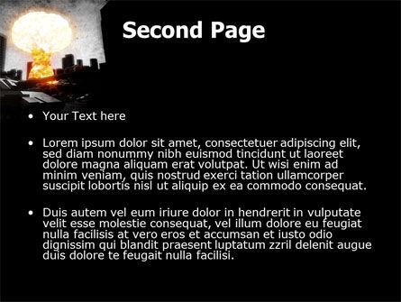 Post-Apocalypse PowerPoint Template, Slide 2, 06794, Nature & Environment — PoweredTemplate.com