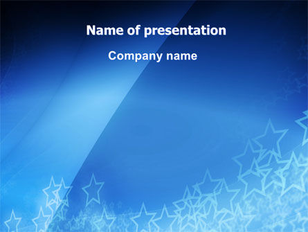 Design Stars PowerPoint Template, 06796, Abstract/Textures — PoweredTemplate.com