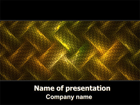 Woven Fabric PowerPoint Template, 06798, Abstract/Textures — PoweredTemplate.com