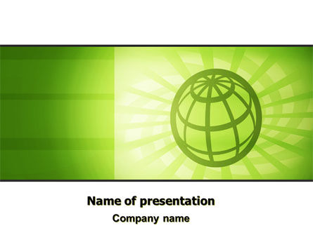 Olive Globe PowerPoint Template