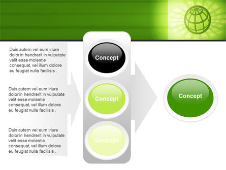 Olive Globe PowerPoint Template Slide 11