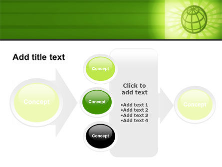 Olive Globe PowerPoint Template Slide 17