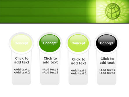 Olive Globe PowerPoint Template Slide 5