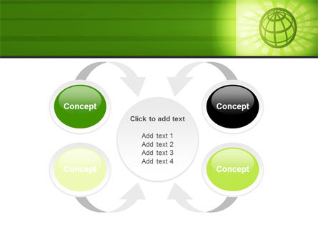 Olive Globe PowerPoint Template Slide 6