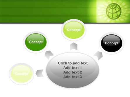Olive Globe PowerPoint Template Slide 7