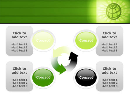 Olive Globe PowerPoint Template Slide 9
