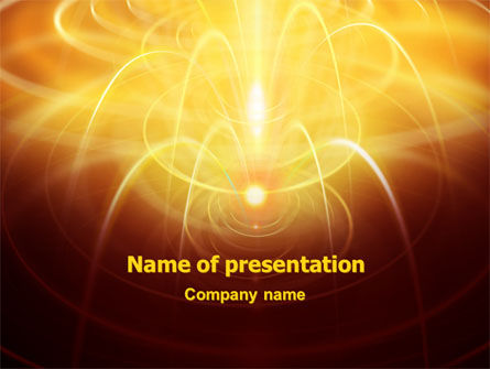Technology and Science: Abstract Fireworks PowerPoint Template #06801