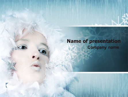 Nature & Environment: Winter Breeze PowerPoint Template #06802