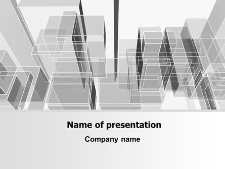 Business: Abstract Architecture PowerPoint Template #06803