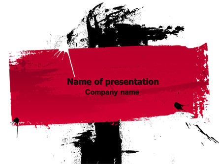 Art & Entertainment: Red Stroke PowerPoint Template #06804