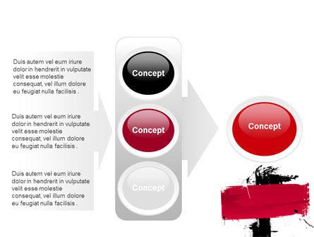 Red Stroke PowerPoint Template Slide 11