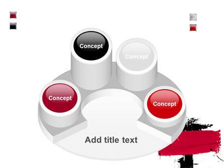Red Stroke PowerPoint Template Slide 12