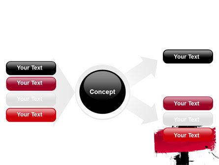 Red Stroke PowerPoint Template Slide 14
