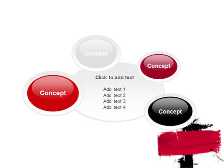 Red Stroke PowerPoint Template Slide 16