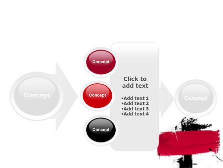 Red Stroke PowerPoint Template Slide 17