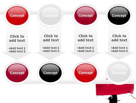 Red Stroke PowerPoint Template Slide 18