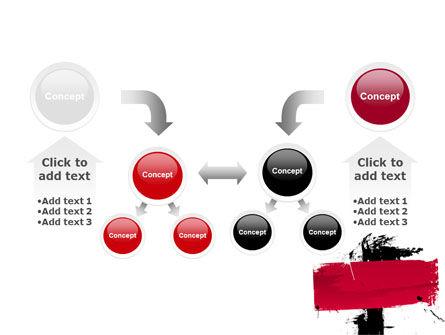 Red Stroke PowerPoint Template Slide 19