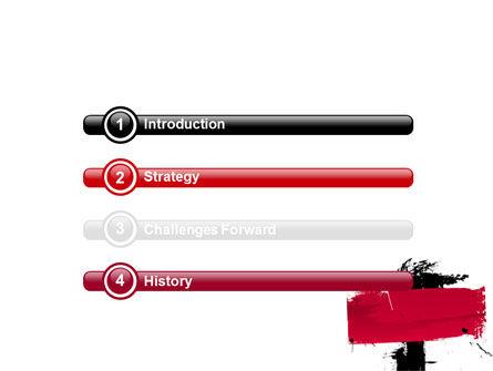 Red Stroke PowerPoint Template Slide 3