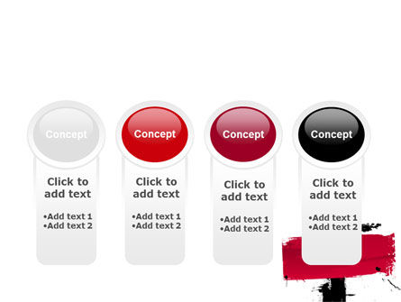 Red Stroke PowerPoint Template Slide 5