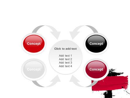 Red Stroke PowerPoint Template Slide 6