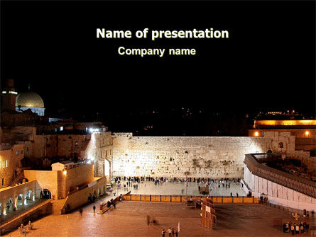 Religious/Spiritual: The Wailing Wall PowerPoint Template #06805