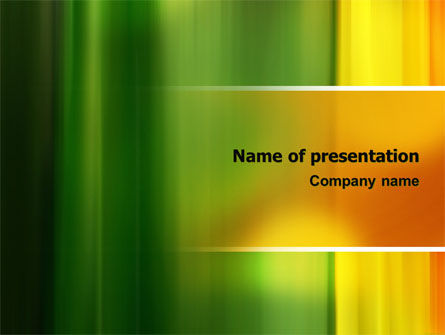 Abstract/Textures: Green and Yellow Theme PowerPoint Template #06806