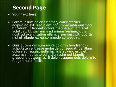 Green and Yellow Theme PowerPoint Template Slide 2