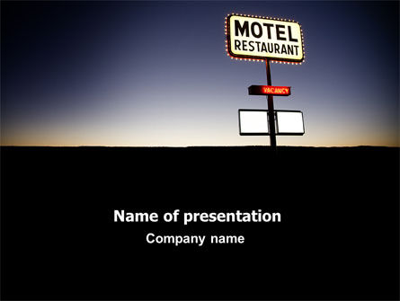 Careers/Industry: Motel Sign PowerPoint Template #06807