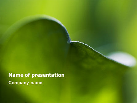 Nature & Environment: Leaf PowerPoint Template #06810