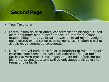 Leaf PowerPoint Template, Slide 2, 06810, Nature & Environment — PoweredTemplate.com