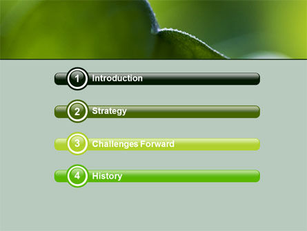 Leaf PowerPoint Template, Slide 3, 06810, Nature & Environment — PoweredTemplate.com