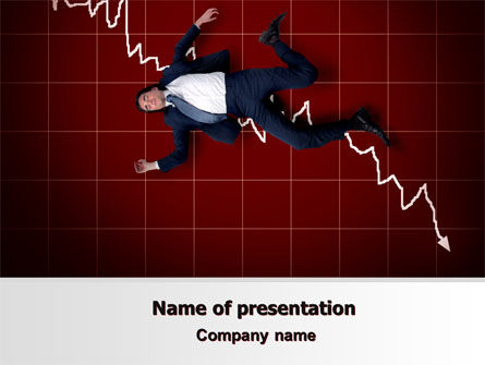 Financial Crisis PowerPoint Template, 06814, Consulting — PoweredTemplate.com