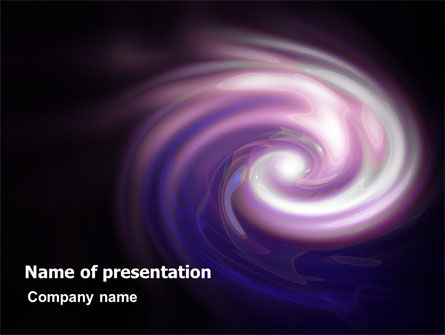 Purple Vortex PowerPoint Template, 06816, Abstract/Textures — PoweredTemplate.com