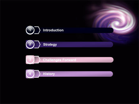 Purple Vortex PowerPoint Template, Slide 3, 06816, Abstract/Textures — PoweredTemplate.com