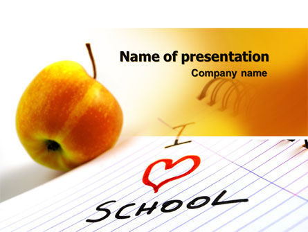 Loving School PowerPoint Template, 06818, Education & Training — PoweredTemplate.com