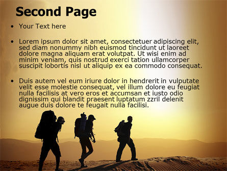 Backpacking In Sands PowerPoint Template Slide 2