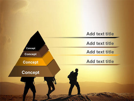 Backpacking In Sands PowerPoint Template Slide 4