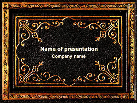 Gold Pressing PowerPoint Template, 06821, Religious/Spiritual — PoweredTemplate.com