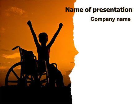 Disabled Children PowerPoint Template, 06822, People — PoweredTemplate.com