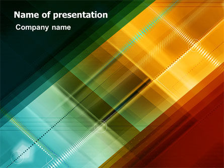 Abstract/Textures: Plantilla de PowerPoint - diseño abstracto del color #06823