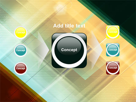Abstract Color Design PowerPoint Template Slide 17