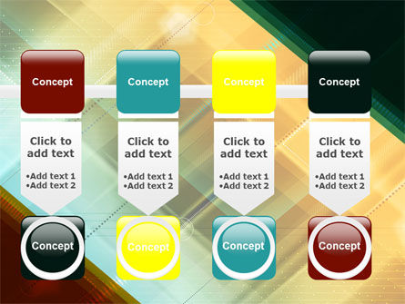 Abstract Color Design PowerPoint Template Slide 18