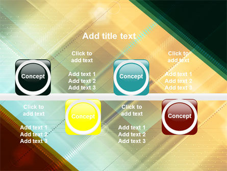 Abstract Color Design PowerPoint Template Slide 19