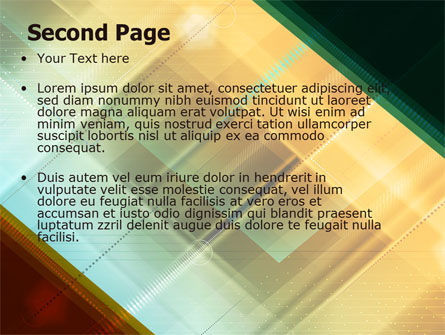 Abstract Color Design PowerPoint Template Slide 2