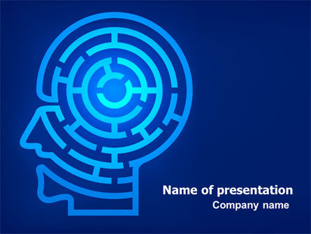 Consulting: Mind Labyrinth PowerPoint Template #06824