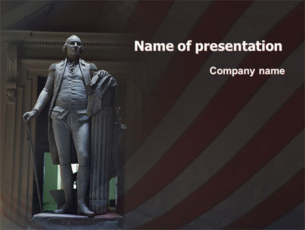 America: George Washington PowerPoint Template #06825