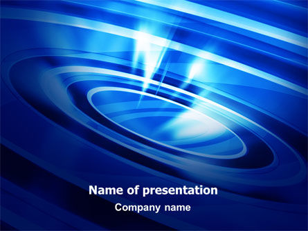 Abstract/Textures: Blue Whirlpool PowerPoint Template #06826