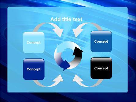 Blue Whirlpool PowerPoint Template Slide 6