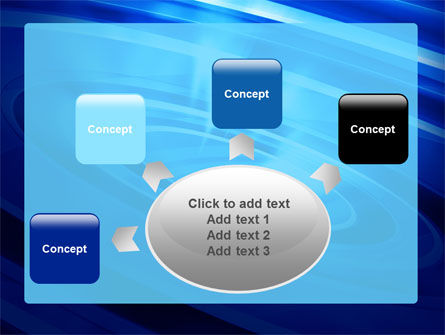 Blue Whirlpool PowerPoint Template Slide 7