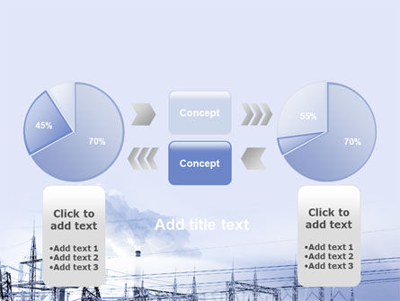Snowcovered Power Line PowerPoint Template Slide 11